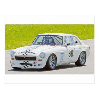 Cartão Postal Carro de corridas branco de MG