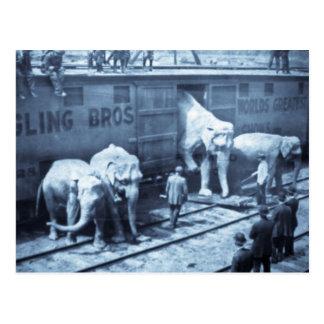 Cartão Postal Carro de estrada de ferro de Ringling dos
