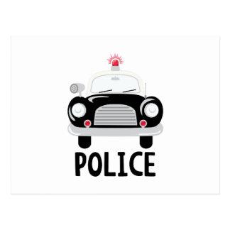 Cartão Postal Carro de polícia