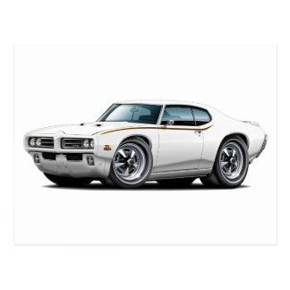 Cartão Postal Carro do branco do juiz de 1969 GTO