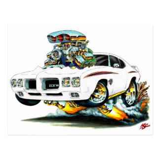 Cartão Postal Carro do branco do juiz de 1970 GTO