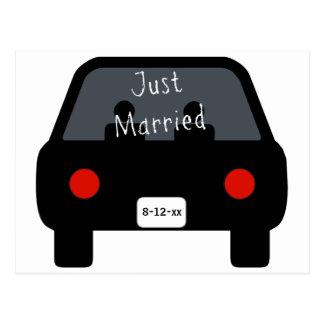 Cartão Postal Carro do recem casados