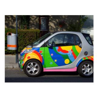 Cartão Postal Carro esperto colorido