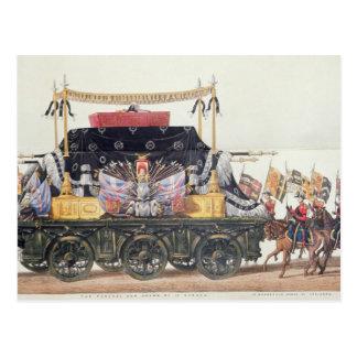 Cartão Postal Carro fúnebre do duque de Wellington, 1853
