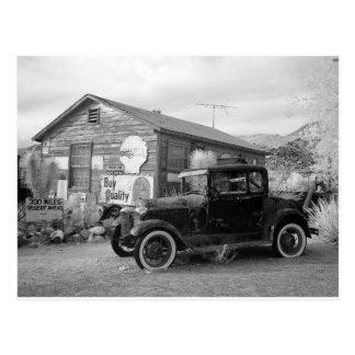 Cartão Postal Carro preto e branco do vintage