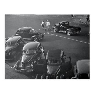 Cartão Postal Carros Centro, 1942