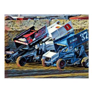 Cartão Postal Carros de corridas
