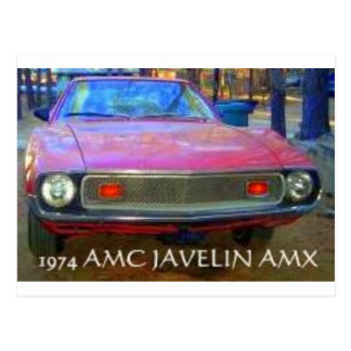 CARTÃO POSTAL CARROS DO MÚSCULO DE AMC AMX 1974