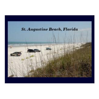 Cartão Postal Carros estacionados na praia