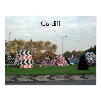 Cartão Postal Carrossel de Cardiff