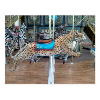 Cartão Postal Carrossel do leopardo
