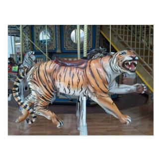 Cartão Postal Carrossel do tigre