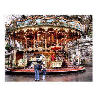 Cartão Postal Carrossel em Montmartre