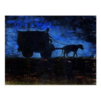 Cartão Postal Carruagem no crepúsculo
