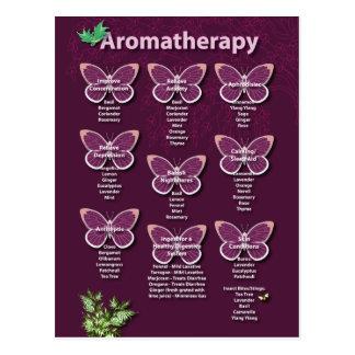 Cartão Postal Carta da aromaterapia em Borgonha