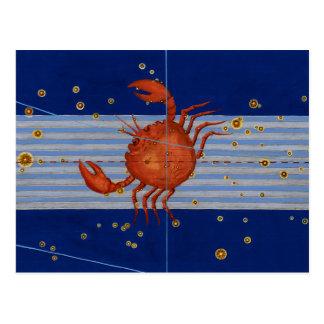 Cartão Postal Carta de estrela do cancer do vintage