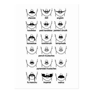Cartão Postal Carta do Moustache