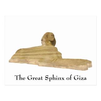 Cartão Postal Cartão: A grande esfinge de Giza