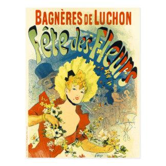 Cartão Postal Cartão: Arte do vintage de Jules Cheret