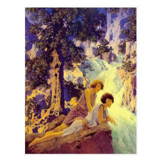 Cartão Postal Cartão:  Cachoeira - Maxfield Parrish