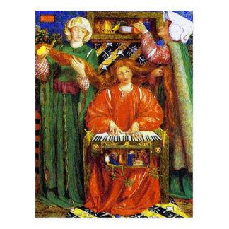 Cartão Postal Cartão:  Canção de natal do Natal - por Rossetti