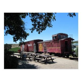 Cartão Postal Cartão: Carros de trem de Santa Fé na junção de