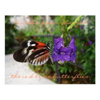 Cartão Postal Cartão/citações da borboleta do piano