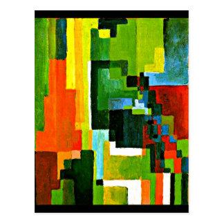 Cartão Postal Cartão-Clássico/vintage Arte-Agosto Macke 22