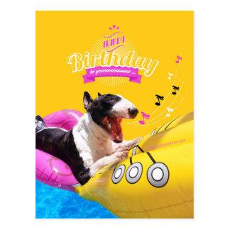"""Cartão Postal """"Cartão com fotos do feliz aniversario"""" de bull"""