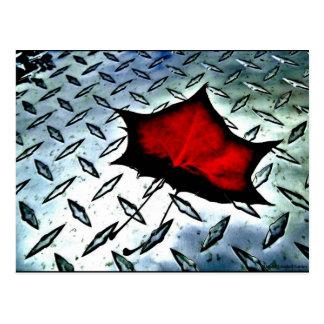 """Cartão Postal """"Cartão da arte de JTG do bordo vermelho"""""""