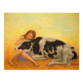 """Cartão Postal """"Cartão da vitela feliz"""""""