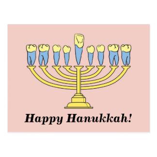 """Cartão Postal """"Cartão de Hanukkah feliz"""""""