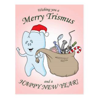 """Cartão Postal """"Cartão de Natal de Trismus alegre"""""""