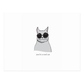 """Cartão Postal """"Cartão do dia dos namorados do gato legal"""" do"""