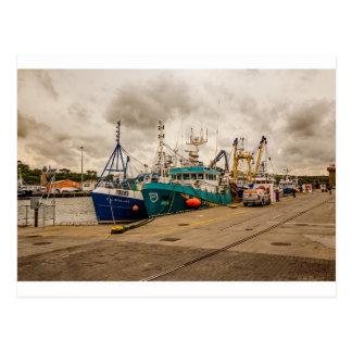 """Cartão Postal """"Cartão dos barcos de pesca irlandeses"""""""