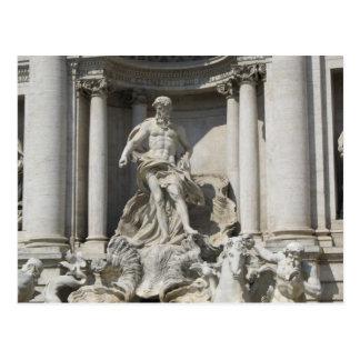 Cartão Postal Cartão--Estátua da fonte do Trevi