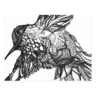 Cartão Postal Cartão, excelente preto e branco da arte para