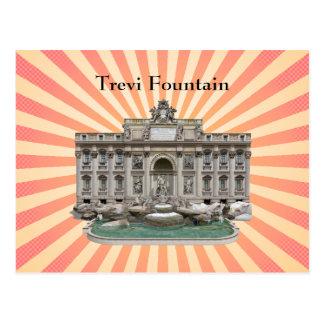 Cartão Postal Cartão: Fontana di Trevi: Fonte do Trevi