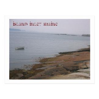 Cartão Postal cartão: Ilha em Maine