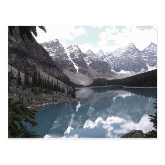 Cartão Postal Cartão, lago moraine. Banff Alberta