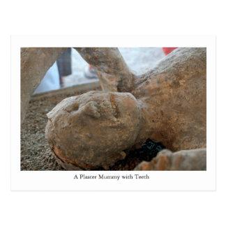 Cartão Postal Cartão, mamã do UNESCO, dentes de Pompeii, Italia