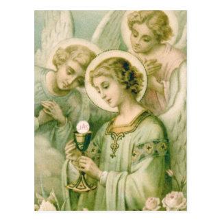 Cartão Postal Cartão: Minha alma Rends o véu