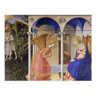 Cartão Postal Cartão: O aviso por Fra Angelico