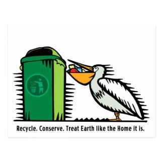 """Cartão Postal Cartão: O """"reciclar, conserva """""""