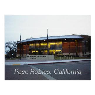 Cartão Postal Cartão: O Tribunal Superior, Paso Robles,