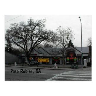 Cartão Postal Cartão, Paso do centro Robles, CA