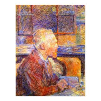 Cartão Postal Cartão: Retrato de Toulouse-Lautrec de Van Gogh