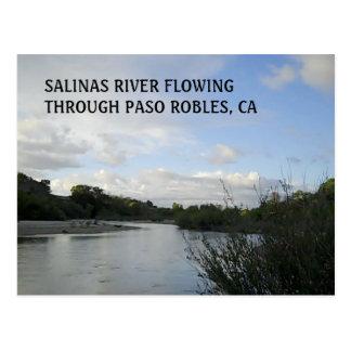 Cartão Postal CARTÃO:  Rio dos Salinas que flui em Paso Robles