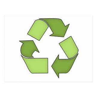 Cartão Postal Cartão-Vai o Verde-Reciclar