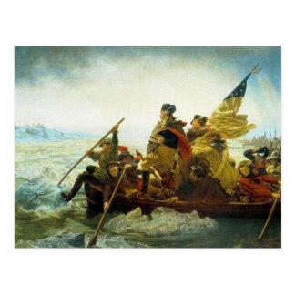 Cartão Postal Cartão--Washington que cruza o Rio Delaware